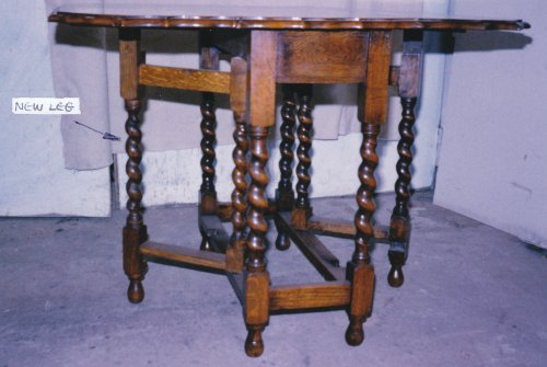 Restored Barley Twist Table