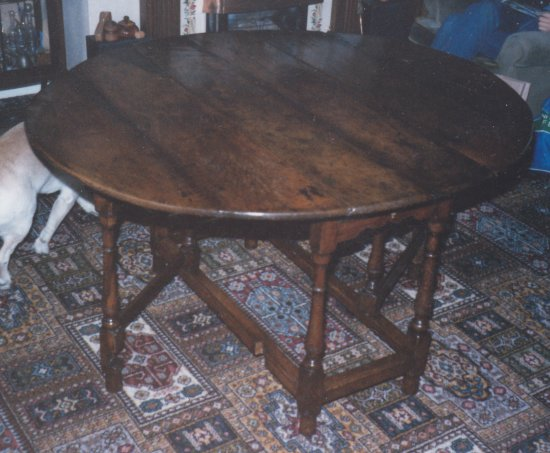 Oak Drop Leaf Table  completed restoration