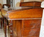 Victorian Rosewood Davenport with knocks and damage