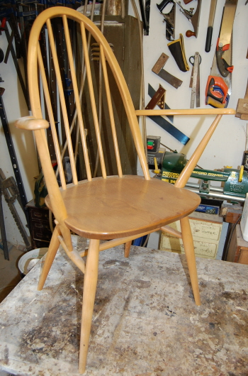Ercol chair looking faded
