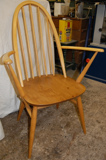 Ercol chair once more in tip-top condition