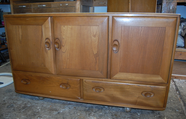 Ercol sideboard before restoration
