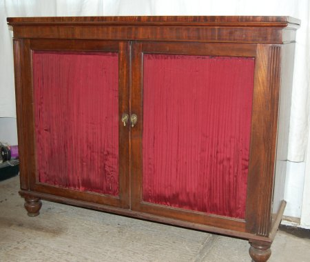 Mahogany chiffonier before restoration