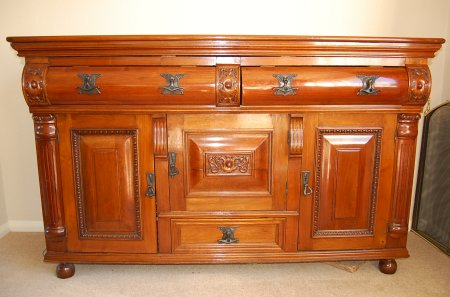 Refurbished and French polished walnut sideboard