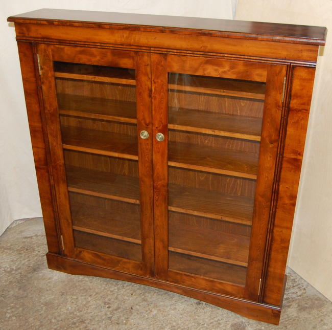 Bespoke DVD storage cabinet made from Yew
