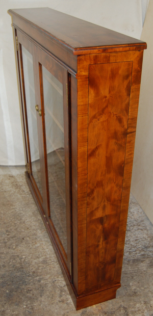Side view of Yew DVD cabinet